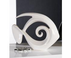 """' - Scultura decorativa pesce """"Atlantico bianco"""