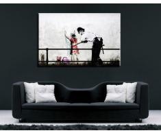 """Banksy su Tela 100 x 70 cm teren! Stampa già montata sul telaio! Pop Art quadro Kunstdrucke, tele, immagini per decorazione - decorazione/Top 100 """"Banksy"""" foto - Graffiti/Street Art Kunstdrucke"""