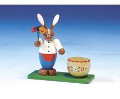 Coniglietto di pasqua con il portauovo, voce dipinta di 13 cm Pasqua NUOVA