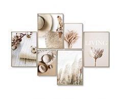 myestado Premium Poster Quadri Moderni Soggiorno - Decorazioni da Muro per Camera da Letto e Cucina - Set Stampe da Parete - 4 x A3 (30x42cm) et 2 x A4 (21x30cm) - Senza Cornici » Living «