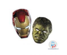 Marvel - 6 Pz Mascherine Avengers2 5Pr85412 Party Bambino Compleanno Festa Addobbi