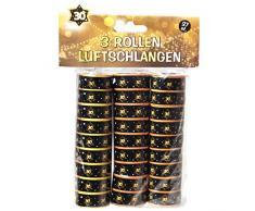 Udo Schmidt GmbH, stelle filanti da 30, colore nero/oro, decorazione per feste di compleanno