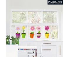 Eurographics WS-DT6048 - Adesivi riutilizzabili per finestre Amici felici, 25 x 70