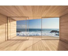 livingdecoration Carta da Parati Foto,bay View 109' 366 x 254cm Oceano Mare Spiaggia Duna - fotomurali - Poster Gigante - inclusivo Pasta Polvere di Colla Nuova XXL
