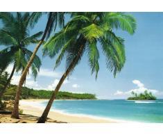 1art1, Fotomurale con stampa fotografica, motivo: Isola tropicale, 8 pz. (386 x 254 cm)