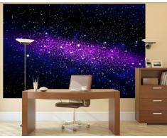 Galassia Fotomurale – spazio tappezzeria da parete - cielo stellato quadro - XXL decorazione da parete –cameretta dei bambini 140 cm x 100 cm