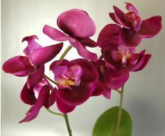 Pianta artificiale di orchidee, colore: fucsia/rosa, in vaso