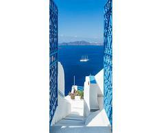murando Autoadesiva carta da parati per porte XXL 90x210 cm Pennelo per porte Poster Adesivo Quadro Design Grecia Mare c-B-0216-a-c