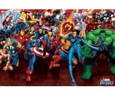 AMBROSIANA Marvel Heroes Attack Maxi Poster