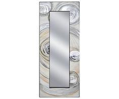 Mauro Ferretti Specchio da Terra e da Muro Galaxy, 60 x 3.8 x 150 cm, Specchio Molato 30 x 120 cm, MDF, Multicolore