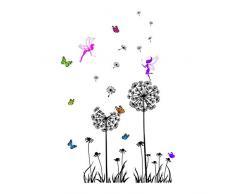 Anmain Removibile Adesivi Murali Aereo Sticker Muro Dente Di Leone Elfo Adesivo Pareti Semplice Wall Stickers Decorazioni Per Interni Farfalla Colorata Adesivi Finestre Arredamento Parete