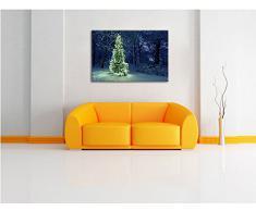 Brillante albero di Natale su tela, Immagini XXL completamente incorniciati con grandi cornici di cuneo, foto muro Stampa artistica con cornice, più economico di pittura o foto, senza manifesti o poster, Leinwand Format:100x70 cm