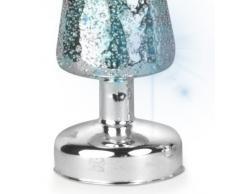Out of the blue 939015 - Puntale per Albero di Natale, in Vetro, con LED Che Cambia Colore, Circa 32 x 9 cm