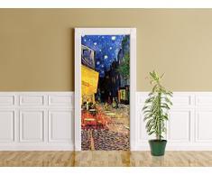 Bilderdepot24 Foglio Adesivo per Porte Vincent Van Gogh - Vecchi Maestri Terrazza del caffè la Sera - Autoadesivo, Direttamente dal Produttore