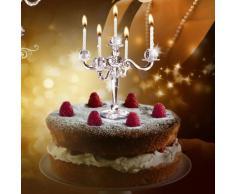 HOOBBE Bling candeliere per torta con candele