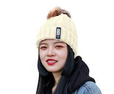 cappello donna elegante cappello ragazza cappello a maglia mini cappellini babbo natale cappello pile Cappello Inverno da Donna in Lana Berretti Beanie Lavorato a Maglia Felpa Fodera Invernale