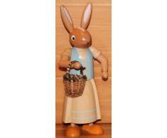 Coniglietto di pasqua femminile, condizione, turchese, 24 montagne del minerale metallifero della decorazione di Pasqua del coniglietto di cm Seiffen pasqua NUOVE