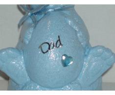 """Dad """", colore: Blu Baby coniglietto pasquale, decorazione commemorativa da Ziggy Crafts"""