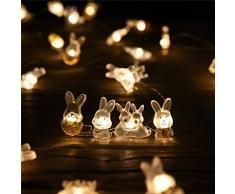 Luce della stringa Ghirlanda luminosa Coniglietti pasquali decorazioni Strisce di luci pasquali da appendere arredamento coniglietto pasquale a led a batteria Dentro fuori Albero di Pasqua