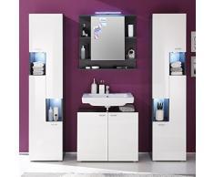 trendteam, Armadietto da bagno con specchio, Grigio (Grau), 72 x 76 x 20 cm