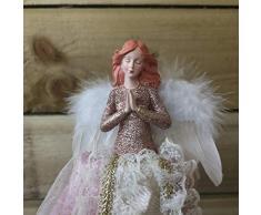 Premier - Puntale per Albero di Natale, a Forma di Fatina dAngelo, Colore: Oro Rosa