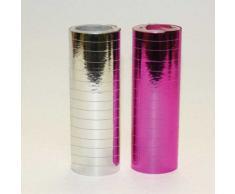 Amscan International - Confezione da 2 rotoli di stelle filanti, colore: Argento/Rosa