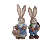 ZZALLL Simpatico Coniglio di Paglia Decorazioni pasquali Casa per Le Vacanze Giardino Ornamento per Matrimoni - 3#