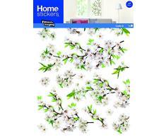 Adesivi per finestra, XXL, motivo: fiori di ciliegio bianchi