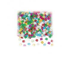 Amscan Metallo coriandoli Multicolori per 40 Anni la Festa di Compleanno