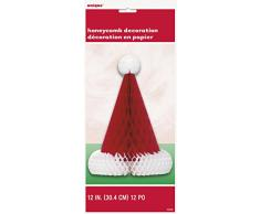 30 cm cappello di Babbo Natale a nido d ape decorazione da tavolo