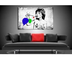 """""""Banksy"""" stampa su tela - quadro 100 x 70 cm teren! Stampa già montata sul telaio! Pop Art quadro Kunstdrucke, tele, immagini per decorazione - decorazione/Top 200 """"Banksy"""" Modern immagini"""