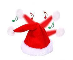 Kylewo Cappelli da Babbo Natale, Cappello da Ballo e da Canto, Regolabile per Adulti e Bambini Decorazione per la casa di Natale (Cappello da Babbo Natale)