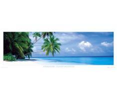 Empire 170033 Poster XXL da porta spiagge delle Maldive, isola Filhalhohi ca. 158x53 cm