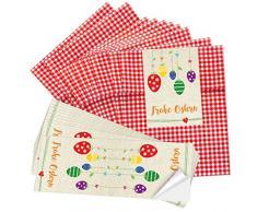 """'50 Rosso a scacchi Papier tuetchen (13 x 18 cm) e altri 10 lungo Sticker 7,2 x 21 cm """"Uova Colorate in pastello"""