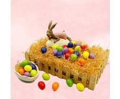 Uova Di Pasqua, Funpa 36Pcs Decorazione Uovo Di Pasqua In Plastica Fai Da Te Solido Uova Di Pasqua Favore Di Partito Uovo Per I Bambini
