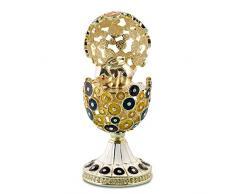 """12,70 cm (5"""") sorpresa Faberge stile russo, motivo: coniglietto pasquale"""
