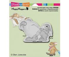 Cling Stamp HappyHopper Stampendous Rubber 3,5 x 4 , motivo: coniglietto di Pasqua
