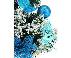 """Christmas Concepts® 20cm (8"""") Albero di Natale glassato con decorazioni blu ghiaccio - Albero di Natale pre-decorato"""