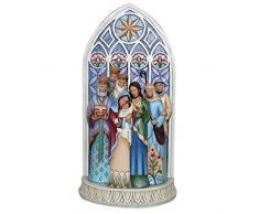 Enesco Heartwood Creek Oggetto Decorativo dAppoggiare Presepe in Finestra della Cattedrale, Resina, Multicolore
