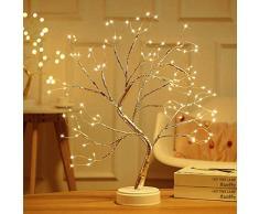 ADIUMA Lampada per albero di bonsai da scrivania, fai da te, con luce di albero di fiori, 108 LED, per decorazione della camera da letto di nozze