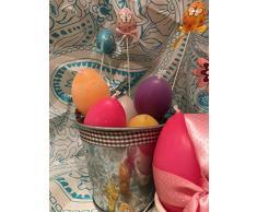 Buona Pasqua Candele a forma di uovo in due misure e colori a scelta idea regalo pasquale mamma nonna zia sorella amica o decorazione casa o tavola pasquale