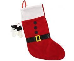 Natale Babbo Natale Calza con piccole guanti Natale