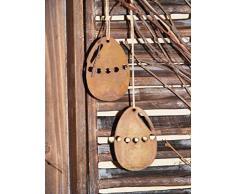 Uovo di pasqua da appendere in Ruggine, Decorazione pasquale con Stile