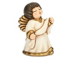 THUN® - Angelo dellAnnunciazione con Targhetta - Veste Bianca - Statuine Presepe Classico - Ceramica - I Classici
