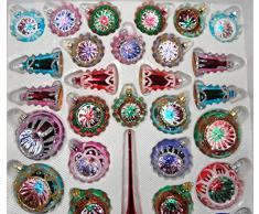 """39 pezzi di vetro Palline di Natale insieme in """"Vintage Classico Speciale"""" - Bagattelle - Decorazioni natalizie alberi di Natale Palle"""