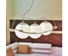 Da 3 pezzi sferica Design lampadario a sospensione Lampadario a sospensione lampada a sfera Ø 19 cm lampada da soffitto vetro opalino vetro opale