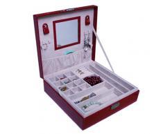 Portagioie valigetta con vari scomparti orologi gioielli cuscino Nr: 1210102112r