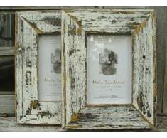 Cornice per Quadro Stile Rustico - Bianco / Nero 10x15cm
