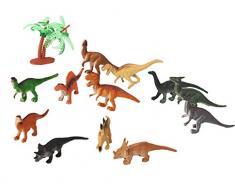 Dinosauri Giocattolo Piccolo, Funpa 12Pcs Giocattolo Dinosauri Plastica Giocattolo Bambini Di Pasqua Con 12Pcs Uova Di Pasqua Jumbo