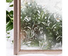 CottonColors Pellicola Per smerigliato Finestre geometria Decorativa,Adesivi Vetro di Privacy Autoadesive,Anti-UV,Controllo di Calore, 2Ft x 6.5Ft (60cm x 200cm)
